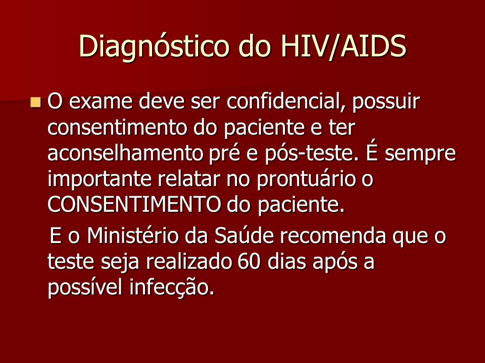 Diagnóstico do HIV/AIDS