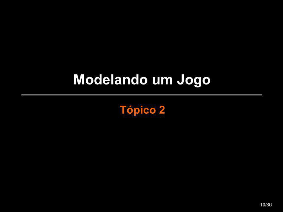 Modelando um Jogo Tópico 2 10/36