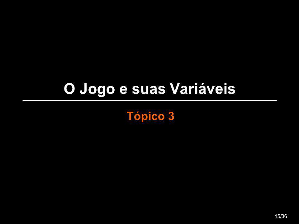 O Jogo e suas Variáveis Tópico 3 15/36