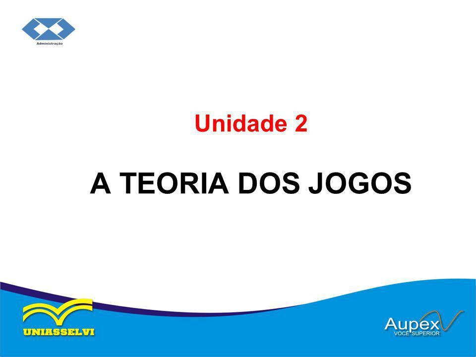 Unidade 2 A TEORIA DOS JOGOS