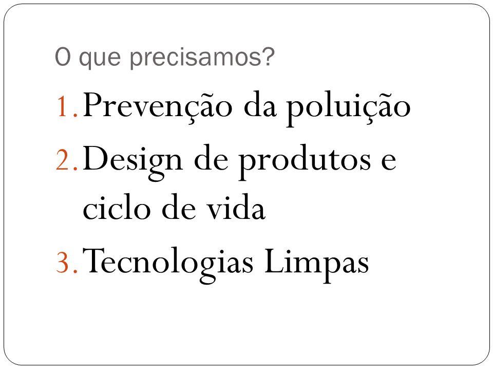 Design de produtos e ciclo de vida Tecnologias Limpas