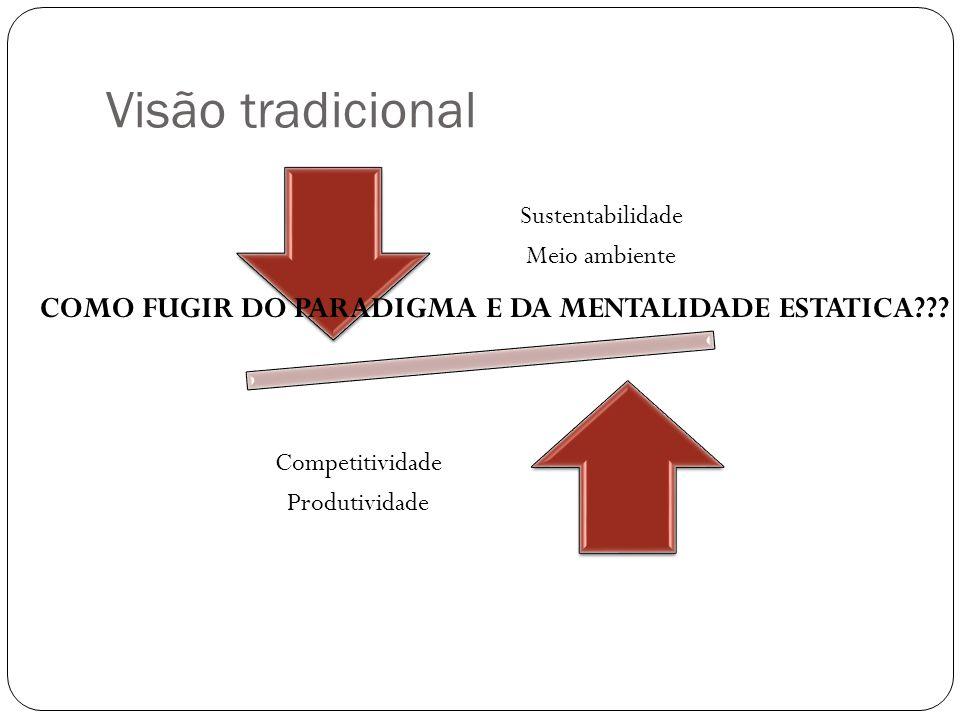Visão tradicional COMO FUGIR DO PARADIGMA E DA MENTALIDADE ESTATICA