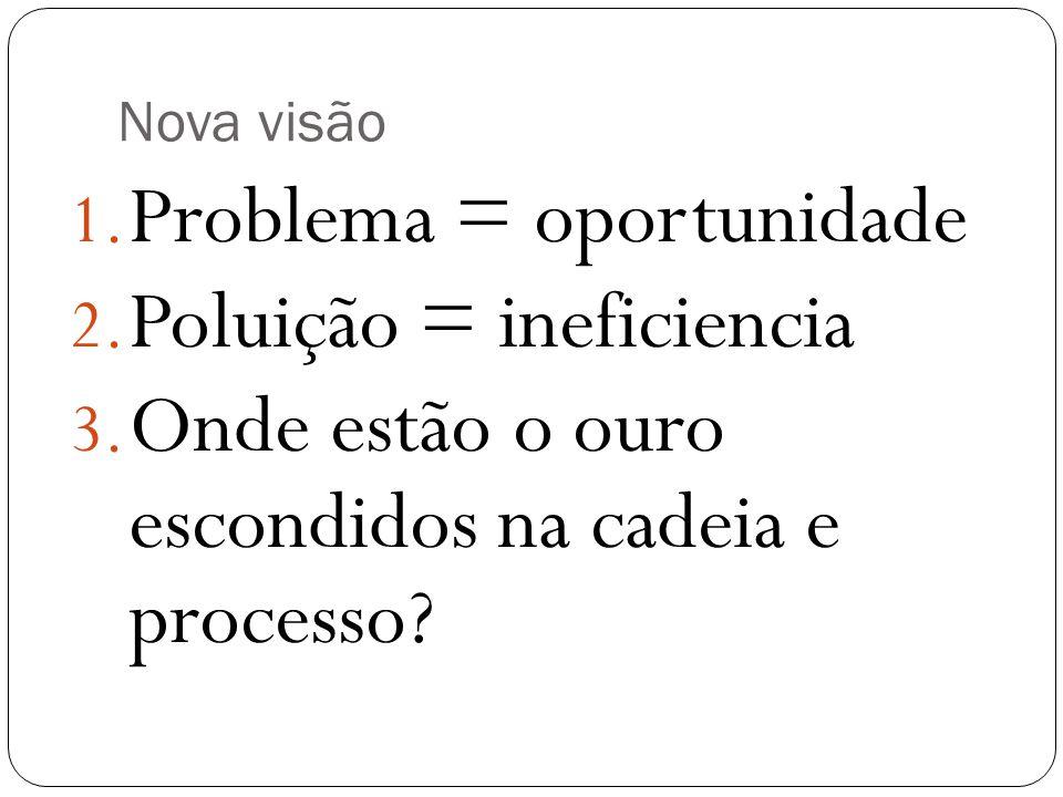 Problema = oportunidade Poluição = ineficiencia