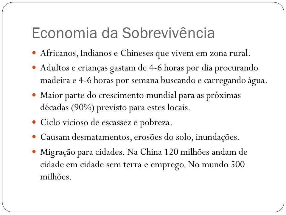 Economia da Sobrevivência