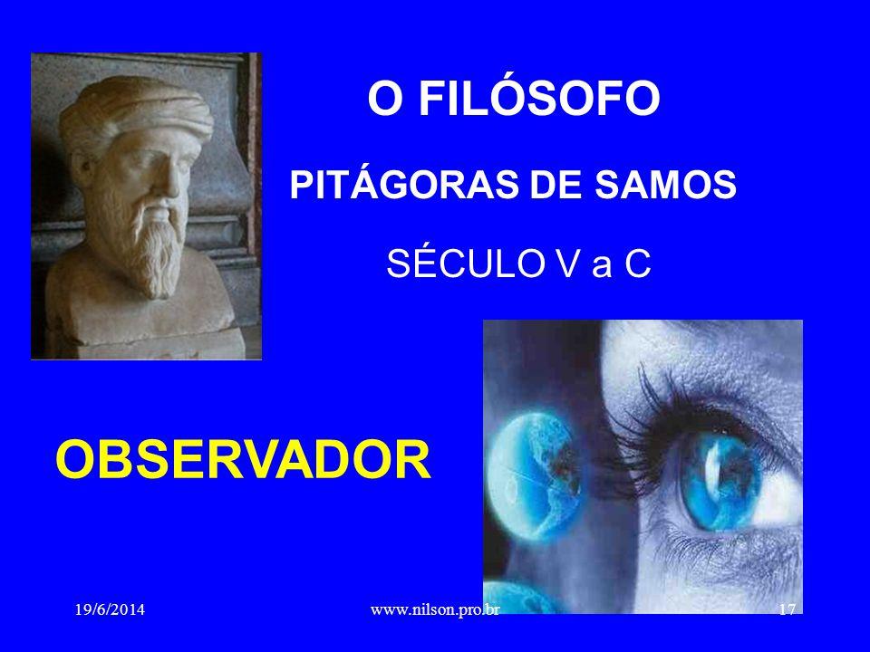 O FILÓSOFO PITÁGORAS DE SAMOS SÉCULO V a C
