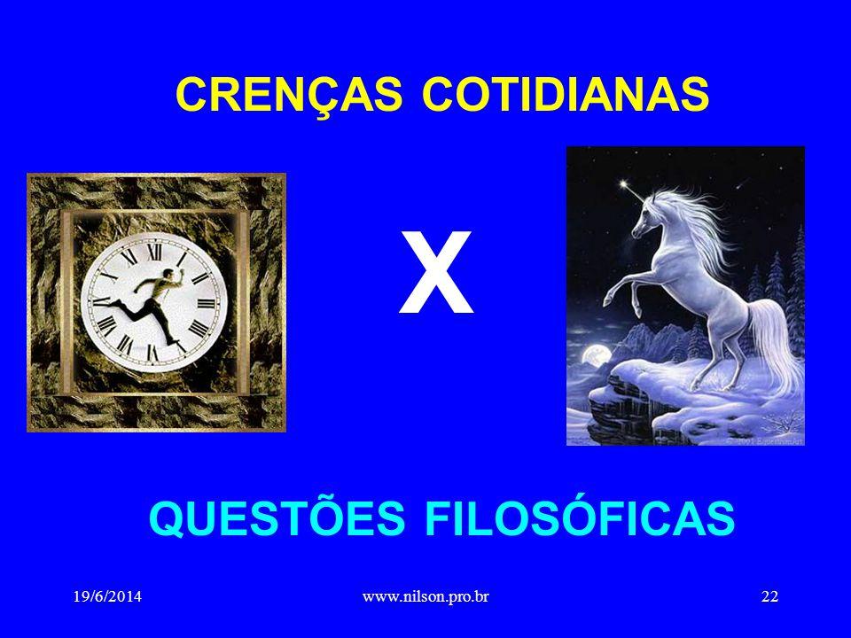 CRENÇAS COTIDIANAS X QUESTÕES FILOSÓFICAS