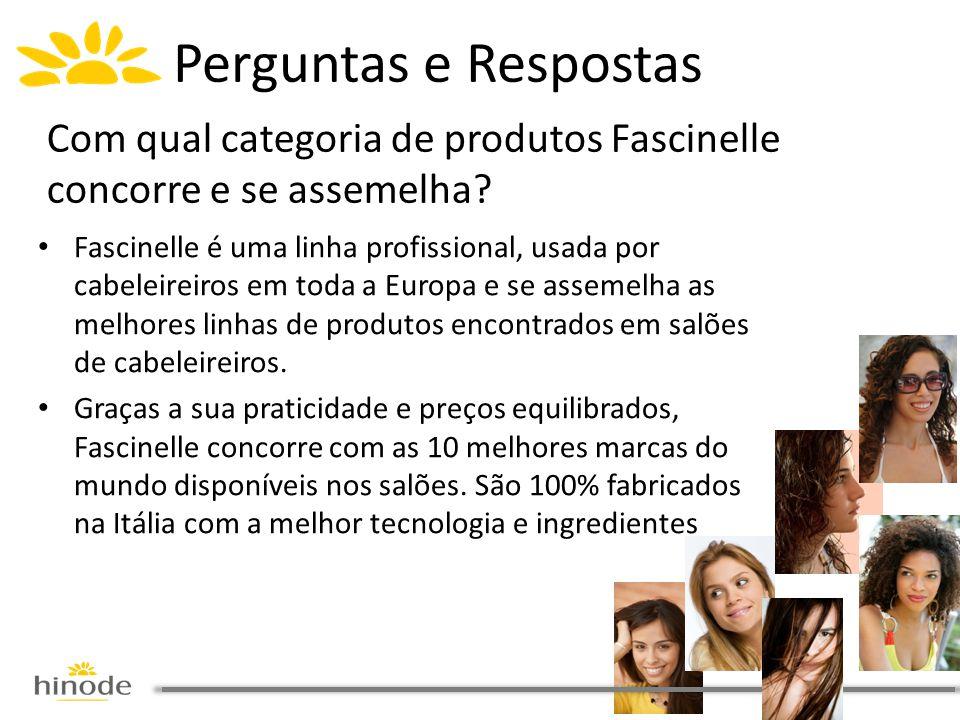 Perguntas e Respostas Com qual categoria de produtos Fascinelle concorre e se assemelha