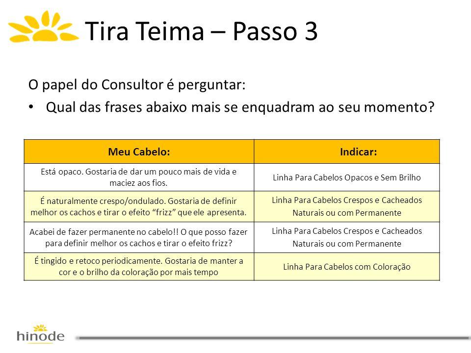 Tira Teima – Passo 3 O papel do Consultor é perguntar: