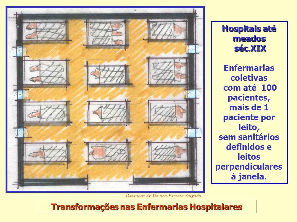 Enfermarias coletivas com até 100 pacientes,