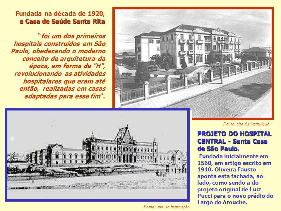 Fundada na década de 1920, a Casa de Saúde Santa Rita