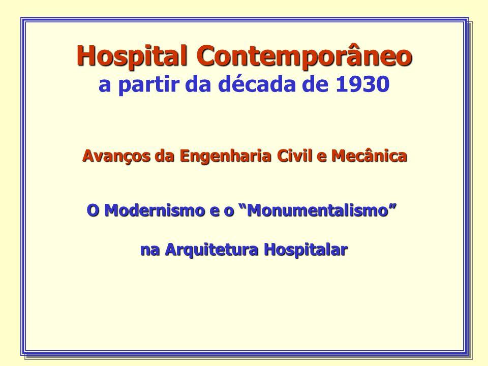 Hospital Contemporâneo a partir da década de 1930