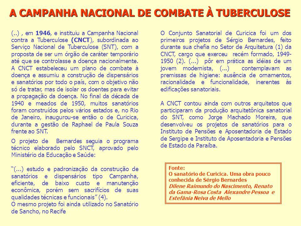 A CAMPANHA NACIONAL DE COMBATE À TUBERCULOSE