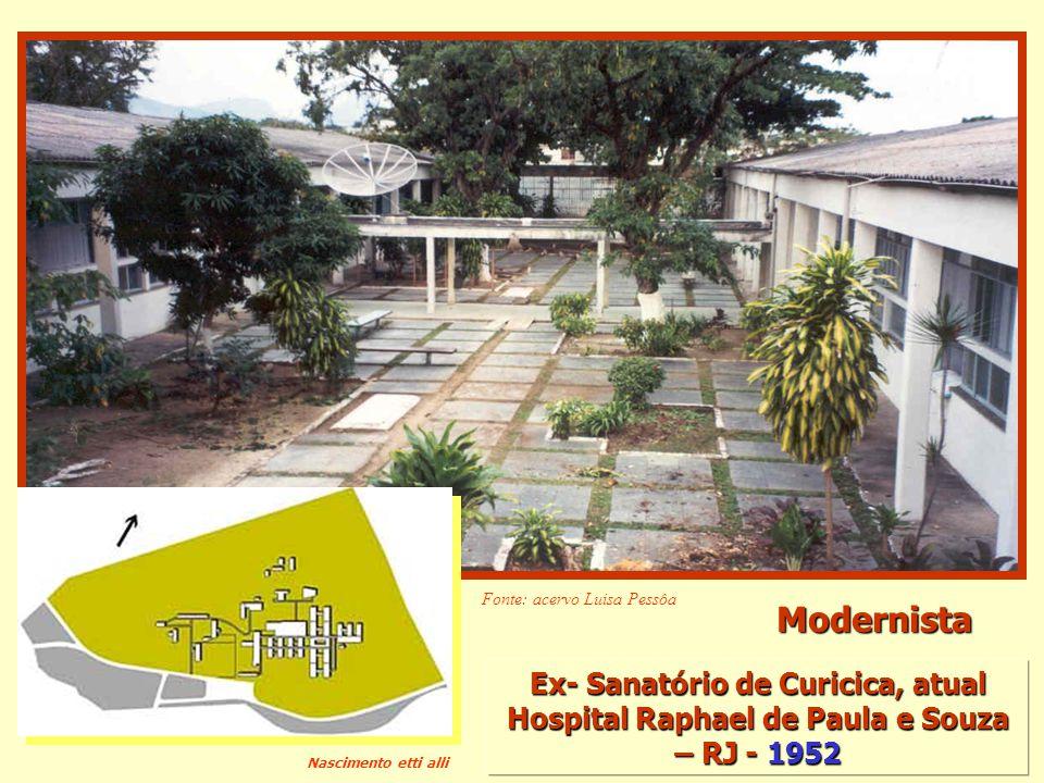 Ex- Sanatório de Curicica, atual Hospital Raphael de Paula e Souza