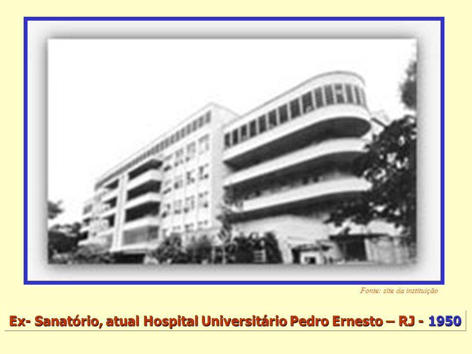 Ex- Sanatório, atual Hospital Universitário Pedro Ernesto – RJ - 1950