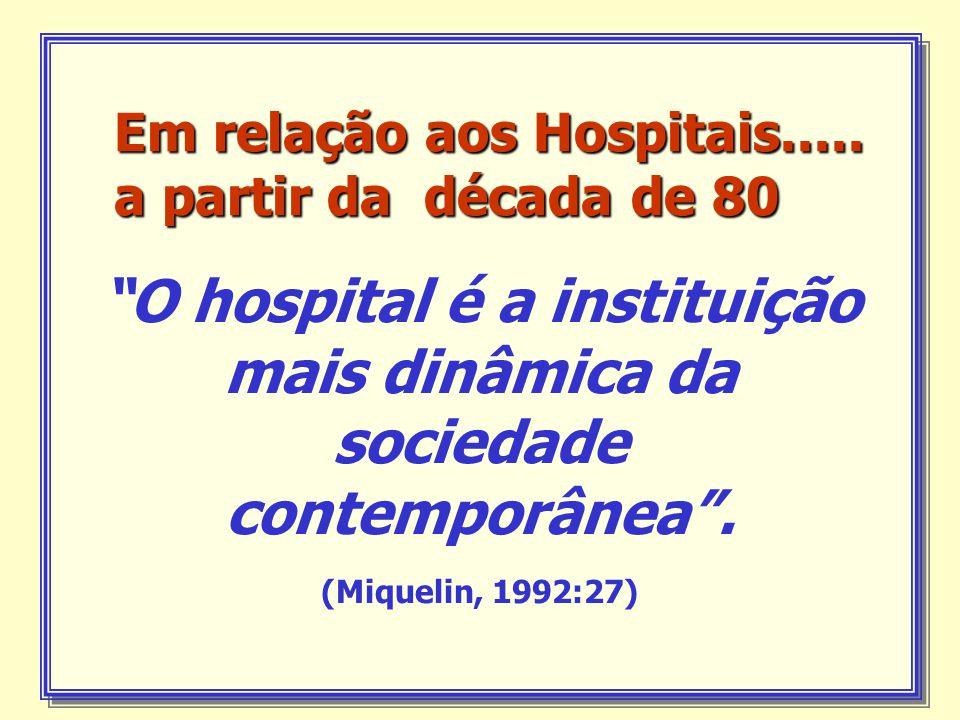 Em relação aos Hospitais.....