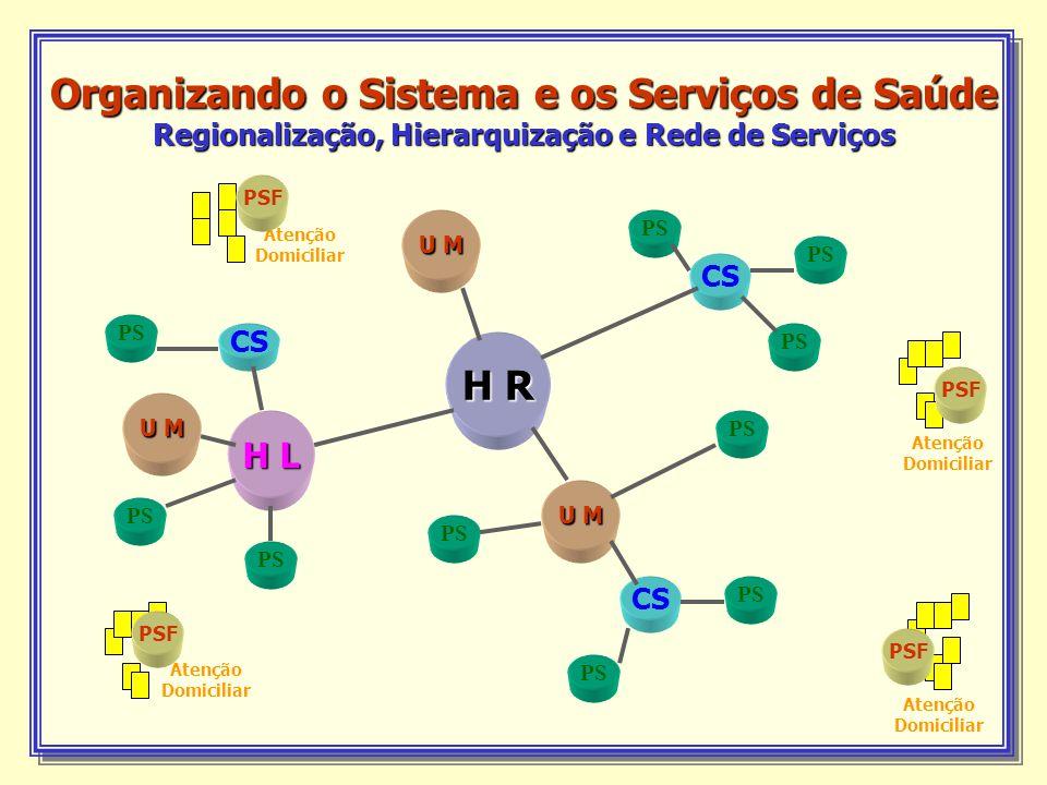 Organizando o Sistema e os Serviços de Saúde Regionalização, Hierarquização e Rede de Serviços