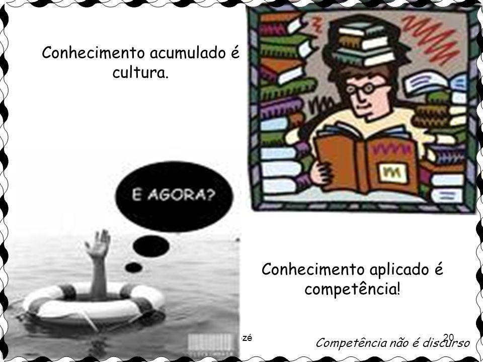 Conhecimento acumulado é cultura.