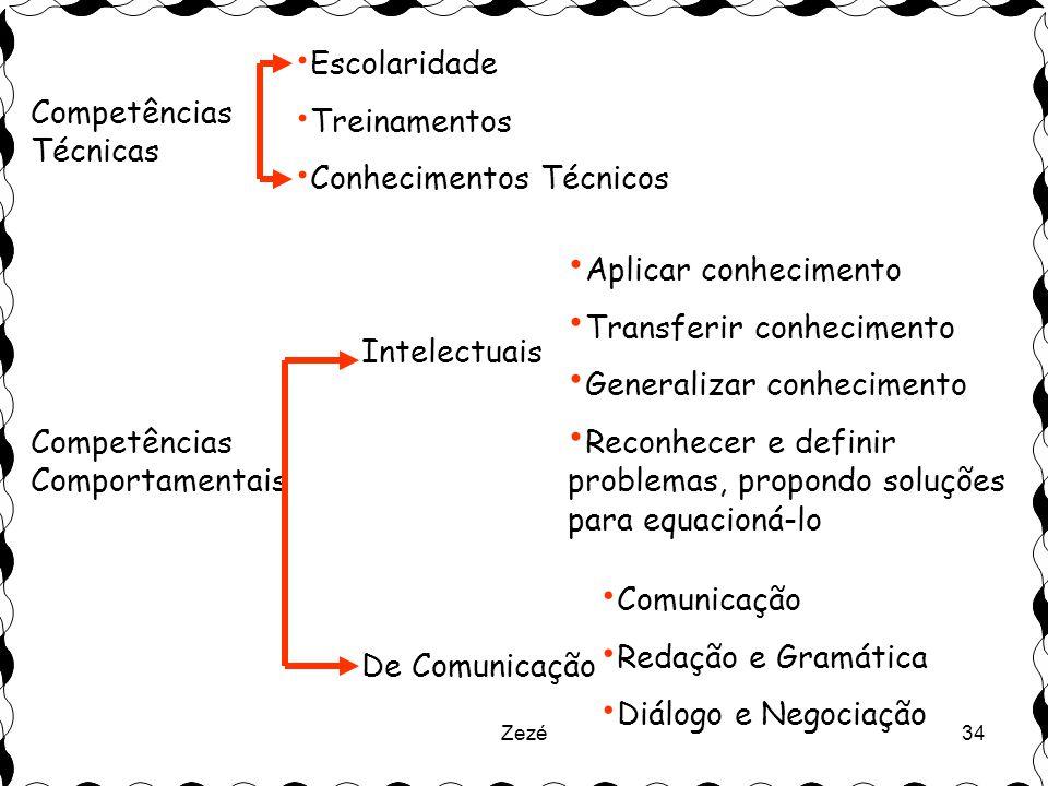 Conhecimentos Técnicos Competências Técnicas