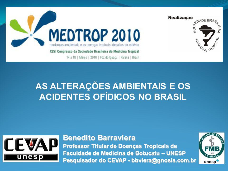 AS ALTERAÇÕES AMBIENTAIS E OS ACIDENTES OFÍDICOS NO BRASIL
