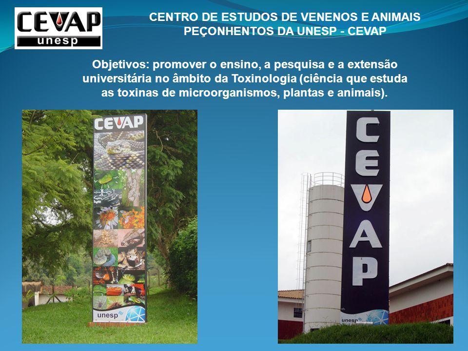 CENTRO DE ESTUDOS DE VENENOS E ANIMAIS PEÇONHENTOS DA UNESP - CEVAP