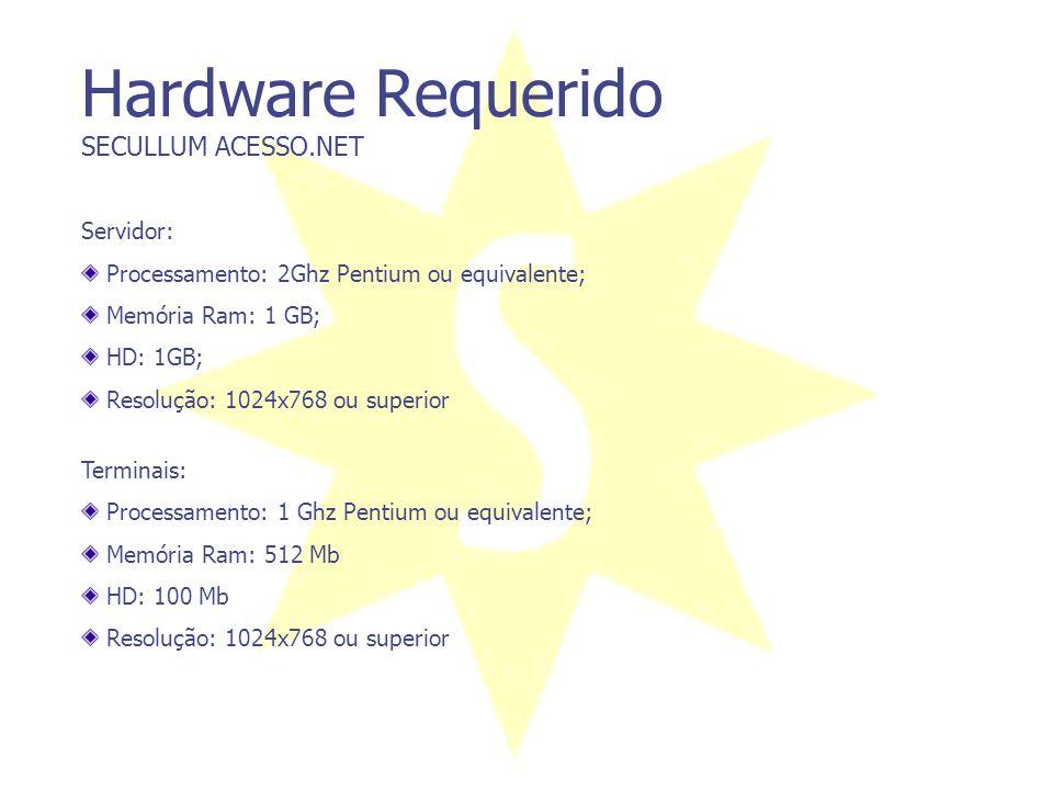 Hardware Requerido SECULLUM ACESSO.NET