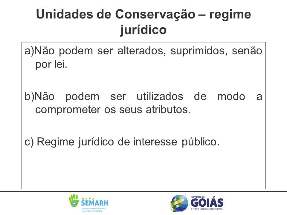 Unidades de Conservação – regime jurídico