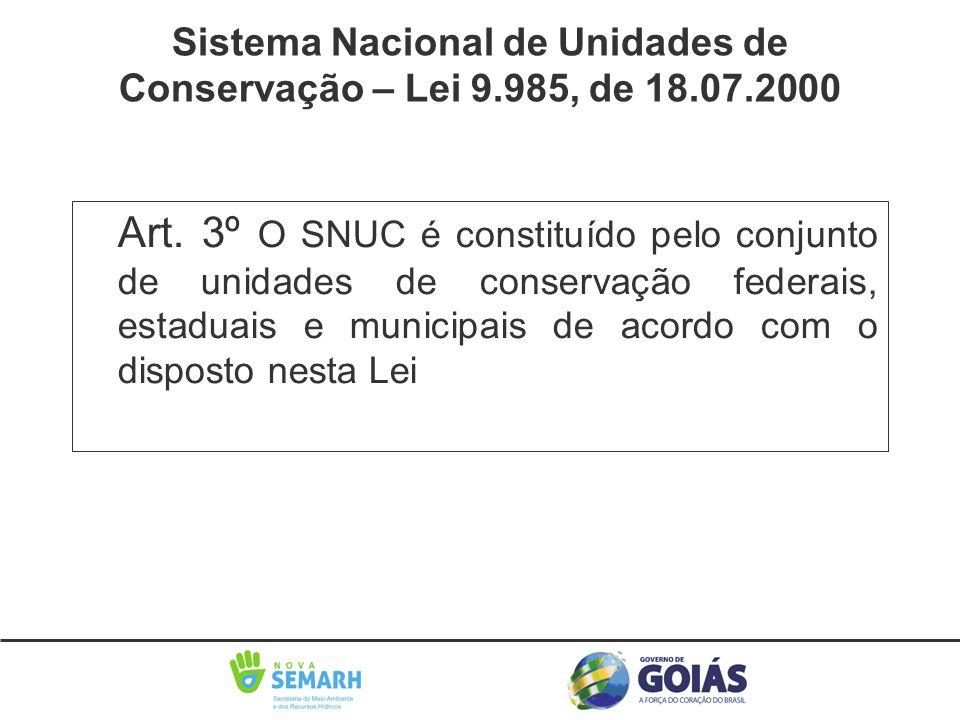 Sistema Nacional de Unidades de Conservação – Lei 9.985, de 18.07.2000