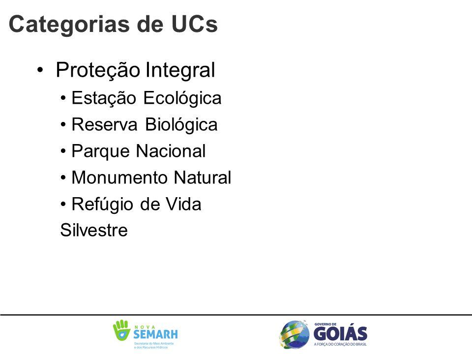 Categorias de UCs • Proteção Integral • Estação Ecológica