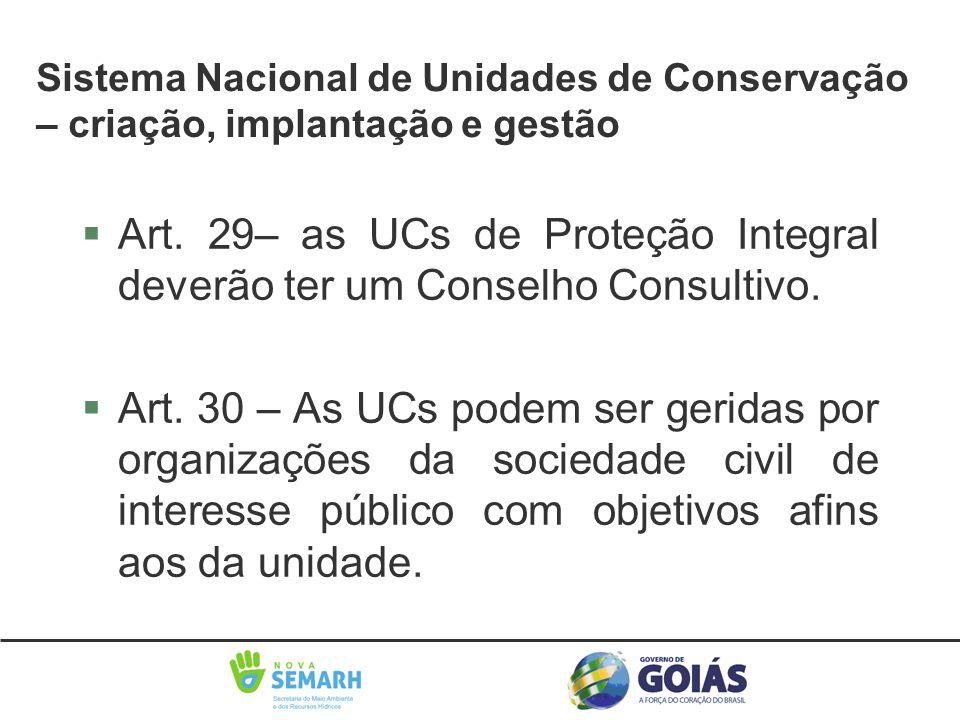 Sistema Nacional de Unidades de Conservação – criação, implantação e gestão