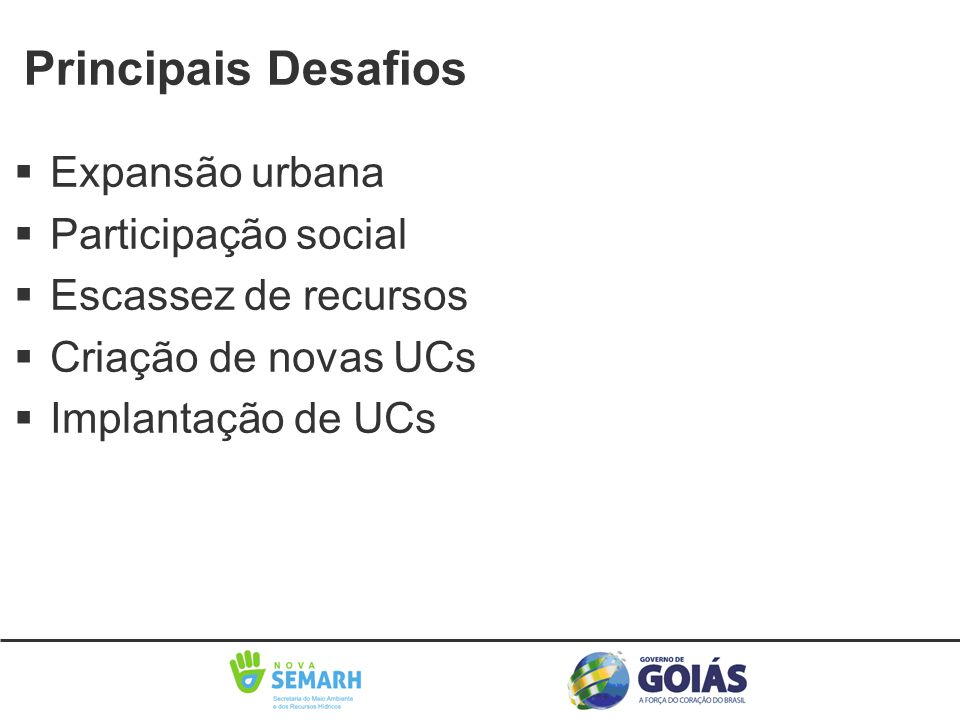 Principais Desafios Expansão urbana Participação social