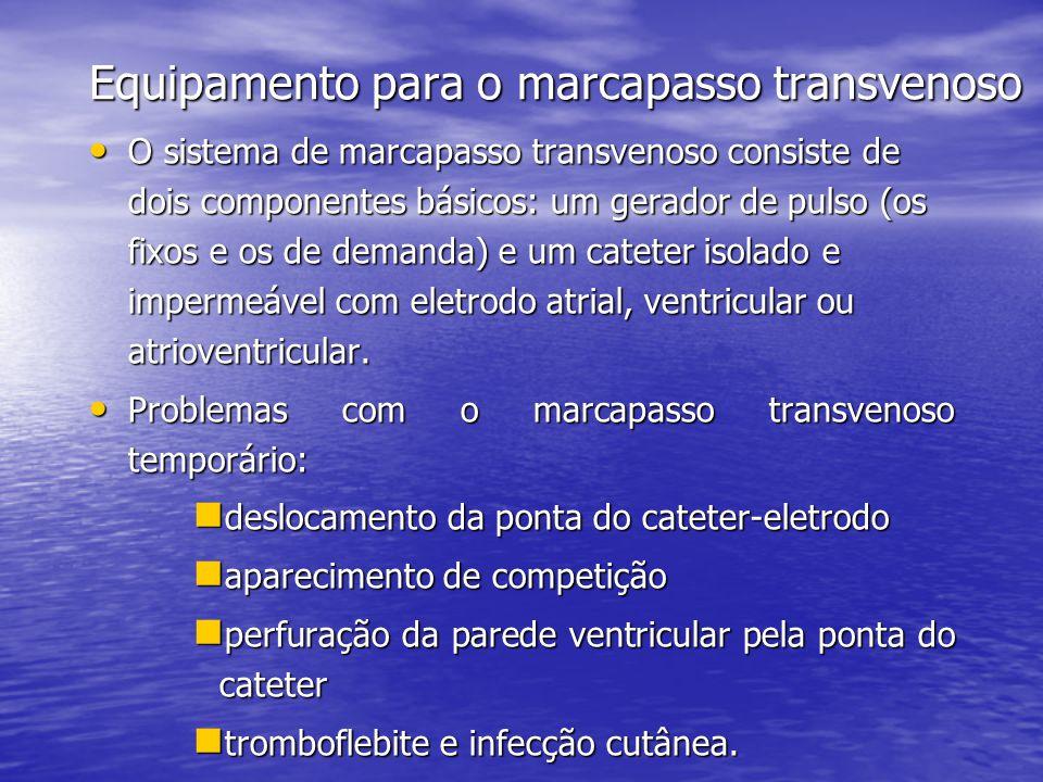Equipamento para o marcapasso transvenoso