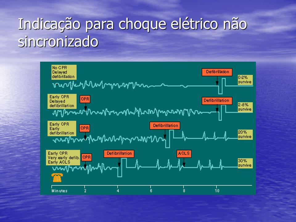 Indicação para choque elétrico não sincronizado