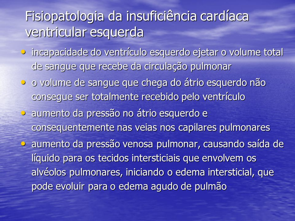 Fisiopatologia da insuficiência cardíaca ventricular esquerda