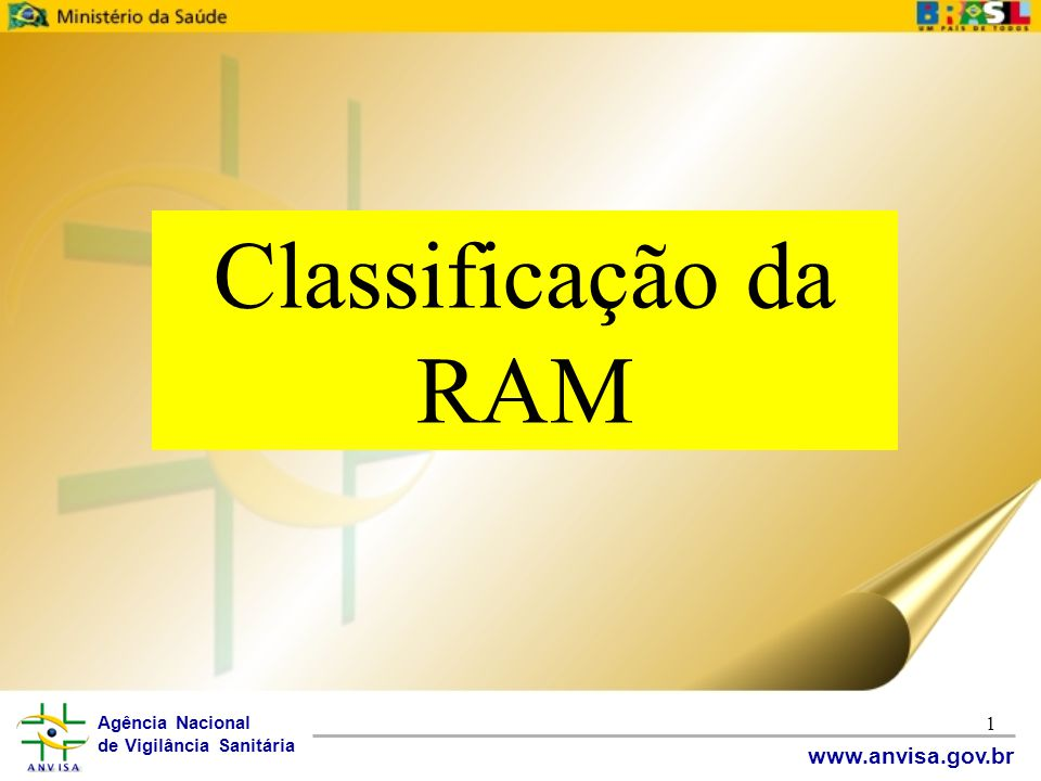 Classificação da RAM