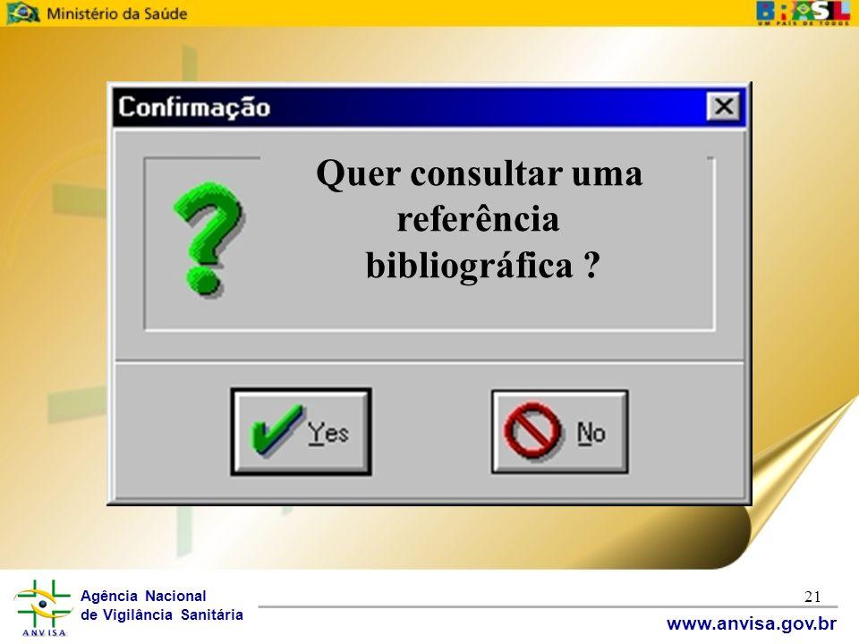 Quer consultar uma referência bibliográfica
