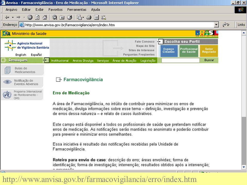 http://www.anvisa.gov.br/farmacovigilancia/erro/index.htm