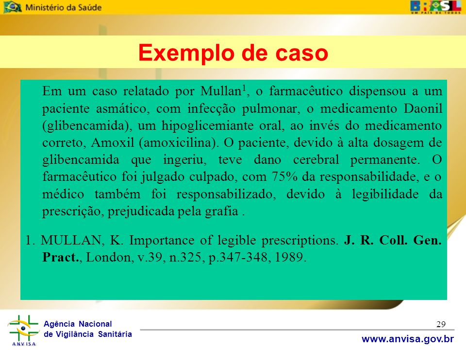 Exemplo de caso
