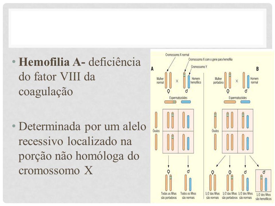 Hemofilia A- deficiência do fator VIII da coagulação
