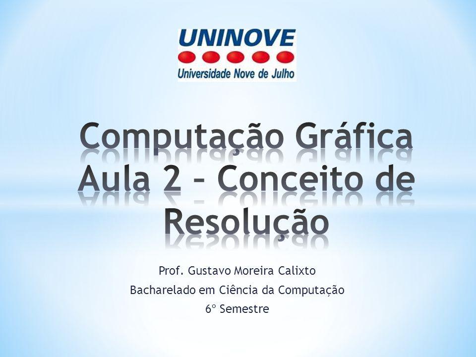Computação Gráfica Aula 2 – Conceito de Resolução