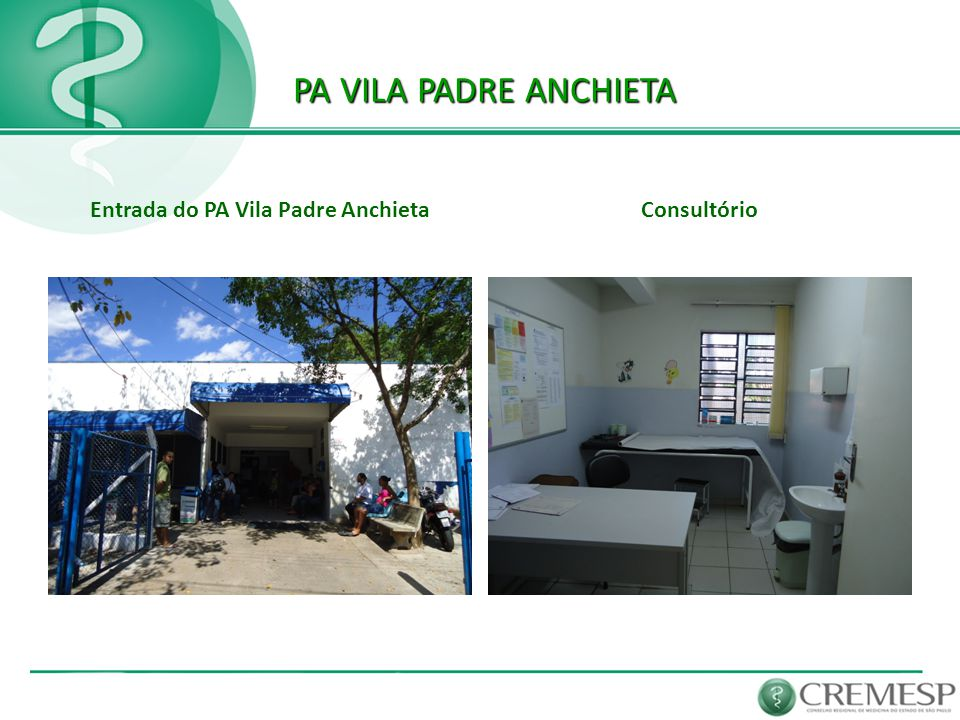 Entrada do PA Vila Padre Anchieta