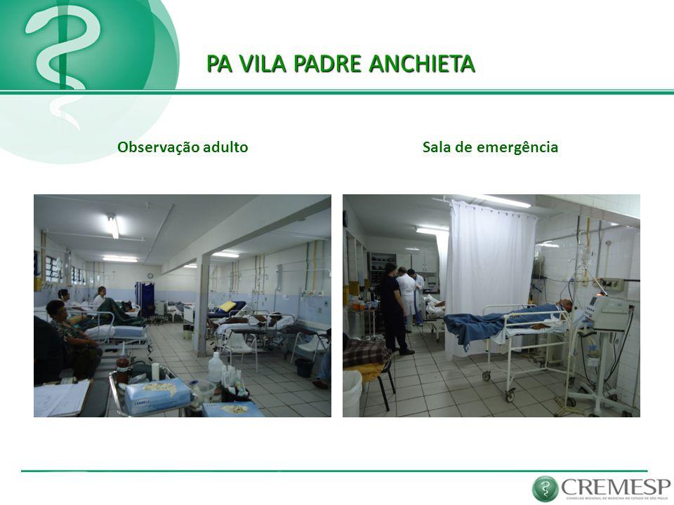 PA VILA PADRE ANCHIETA Observação adulto Sala de emergência