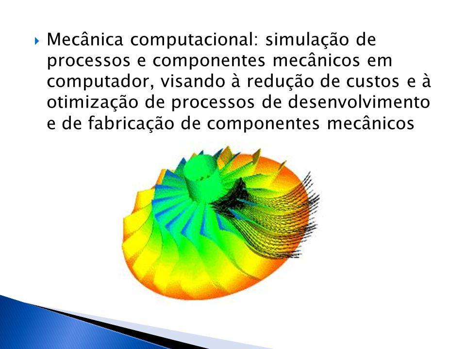 Mecânica computacional: simulação de processos e componentes mecânicos em computador, visando à redução de custos e à otimização de processos de desenvolvimento e de fabricação de componentes mecânicos