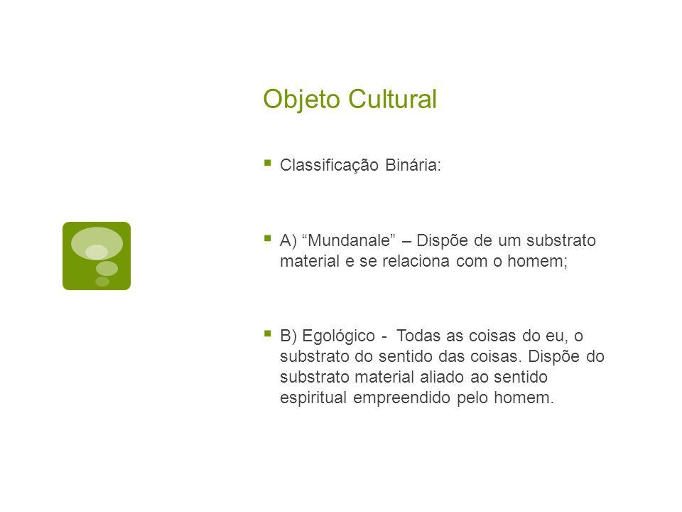 Objeto Cultural Classificação Binária: