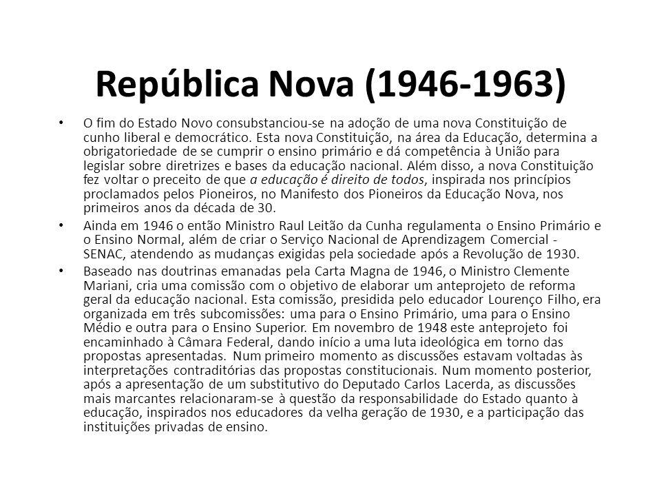 República Nova (1946-1963)