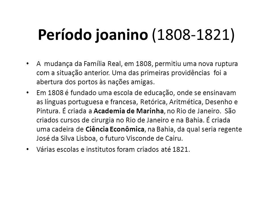 Período joanino (1808-1821)