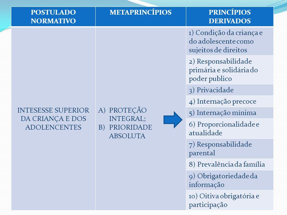 INTESESSE SUPERIOR DA CRIANÇA E DOS ADOLENCENTES