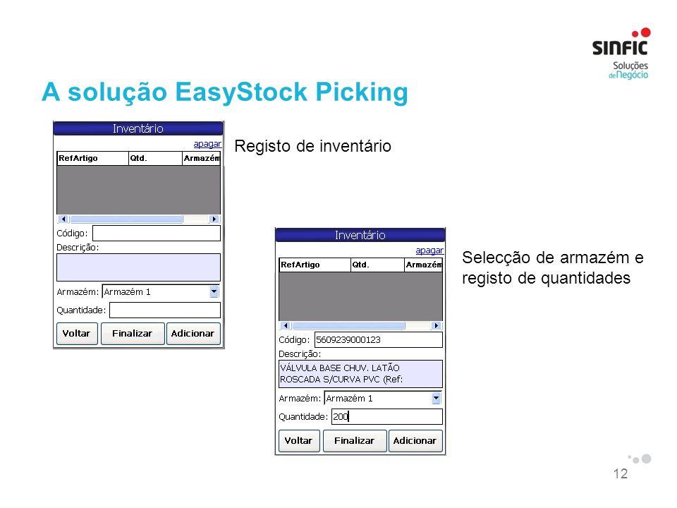 A solução EasyStock Picking