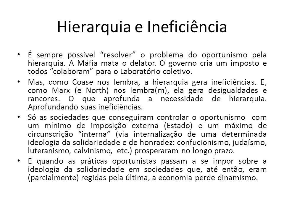 Hierarquia e Ineficiência