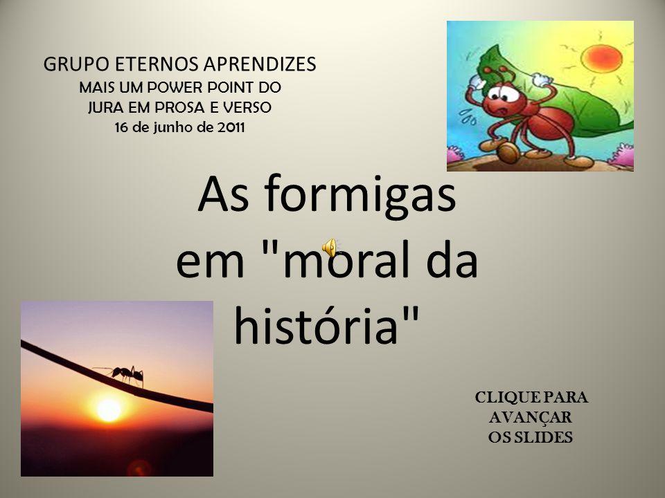 As formigas em moral da história