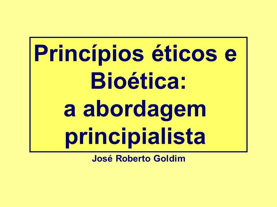 Princípios éticos e Bioética: a abordagem principialista